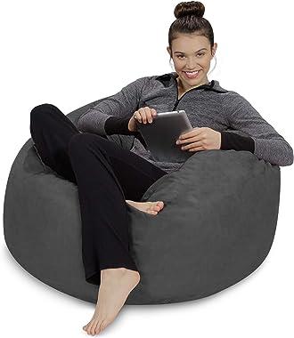 Sofa Sack - Plush, Ultra Soft Bean Bag Chair - Memory Foam Bean Bag Chair with Microsuede Cover - Stuffed Foam Filled Furnitu