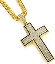 NYUK Gold Chain for Men with Cross Pendant Necklace