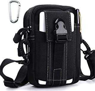 Tactical Molle Pouch Outdoor Sports Belt Waist Pack Bag Military Waist iPhone Gadget Money EDC Pocket Security Carry Case for Camping Hiking Mountaineering