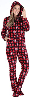 Women's Fleece Hooded Footed Onesie Pajama