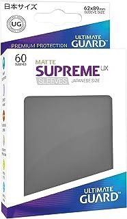 Ultimate Guard Supreme Japanese UX Card Sleeves (60 Piece), Matte Dark Grey