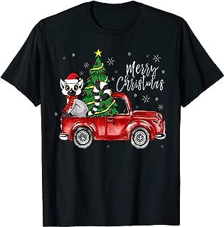Cute Lemur Truck Christmas Costume Funny Lemur Lover Gift T-Shirt