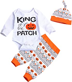 3Pcs/Outfit Set Baby Boy Girl Infant My First Halloween Rompers …