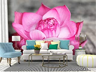 Pink White Lotus Temple Flower Blossom offering sri Lanka red Canvas Print Wallpaper Wall Mural Self Adhesive Peel & Stick Wallpaper Home Craft Wall Decal Wall Poster Sticker for Living Room