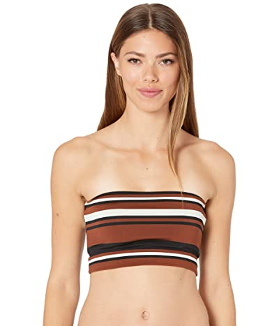 Robin Piccone Simone Bandeau Top (Cocoa/Cream/Black) Women