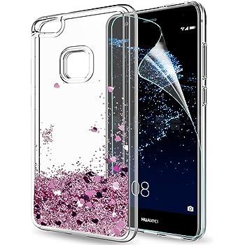 LeYi Funda Huawei P10 Lite Silicona Purpurina Carcasa con HD ...