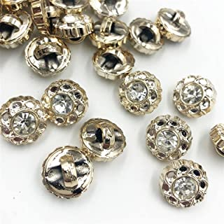 Durable 30/50/150PCS 11MM New Plating Buttons With Rhinestones Shank DIY Apparel Sewing Accessories Shirt (Color : 150 pcs)