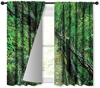NUOMANAN Window Blackout Curtains,Asian Ob Luang Thai National Park,Rod Pocket Curtain Panels for Bedroom & Kitchen,54 x 72 inch