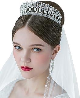 SWEETV Royal Pearl Tiara Vintage Rhinestone Crown Bridal Jewelry Wedding  Hair Accessories c93df428831c