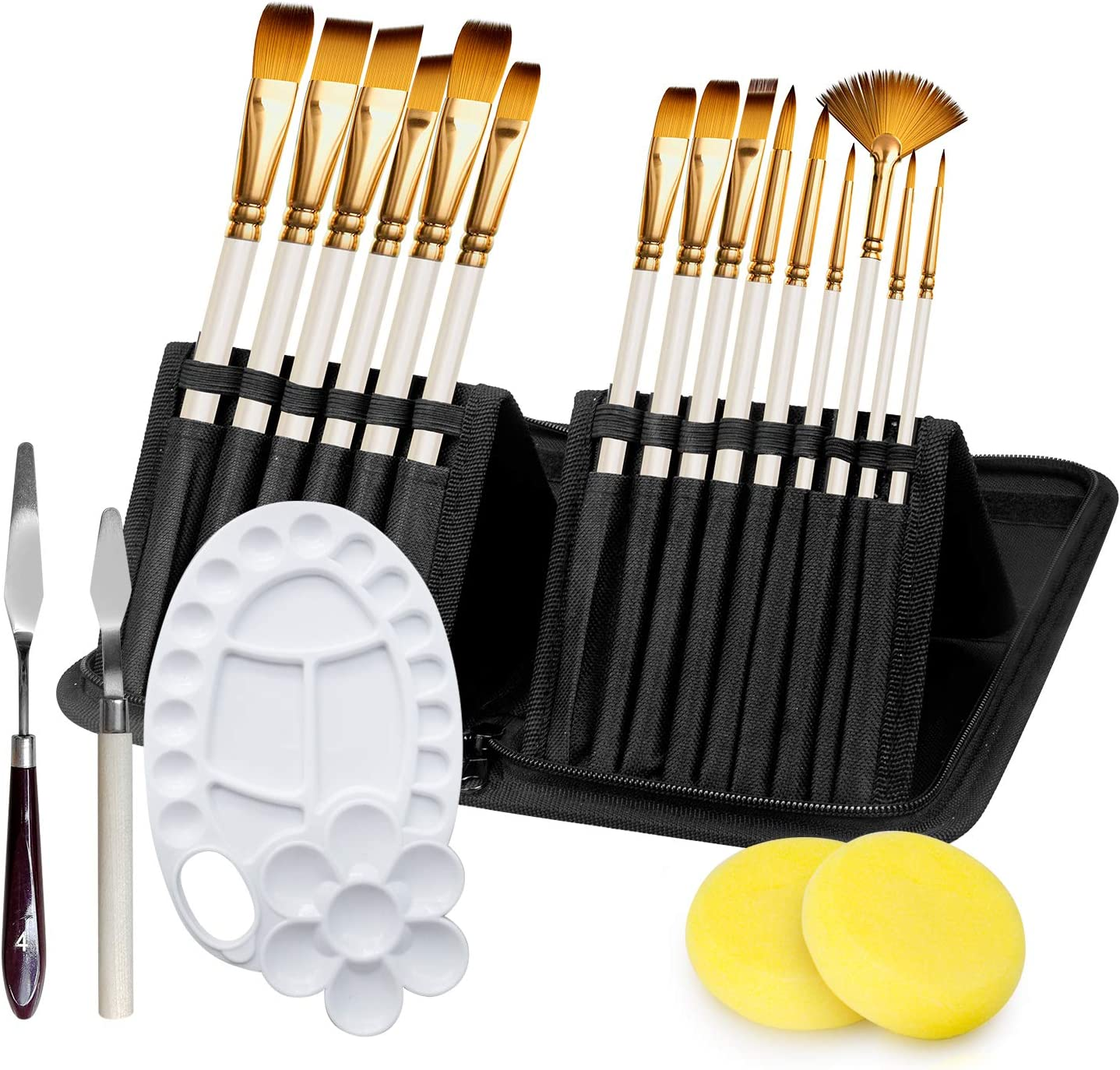 Adkwse Limited price Paint Brush Set for Acrylic Canvas Gouache Watercolor Mail order Oil