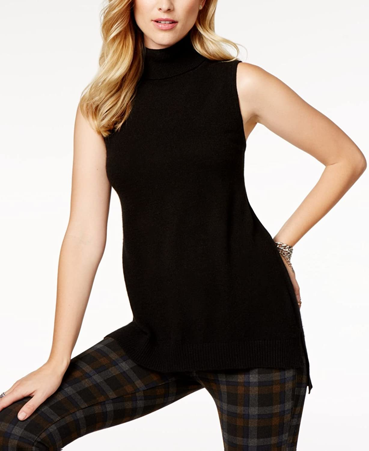 Charter Club Cashmere Sleeveless Turtleneck Sweater