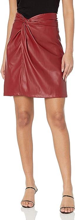 Side Twist Knit Skirt