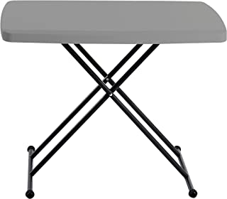 Iceberg 65491 IndestrucTable TOO 1200 Series Resin Personal Folding Table 30 x 20 Charcoal