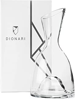 DIONARI Classico Red Wine Decanter: 100% Lead-Free, Hand-Crafted Glass Decanter for Red Wine Aeration, Premium, Luxurious Aerator Carafe Gift Set for Wine Lovers, Elegant Wine and Drinking Accessories