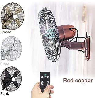 XYNH Ventilador De Pared De 3 Velocidades, Ventiladores Industrial Fan, con Mando A Distancia,función Oscilante, Ultra Silencioso,Potente Ventilador