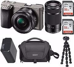 Sony Mirrorless a6000 Digital Camera 2 Lens Kit Bundle, 3