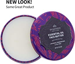 Svasthya Essential Oils Face Butter, with Lavender, Frankincense, and Tea Tree Oil, For Irresistibly Soft, Smooth, Clear Skin 100% Natural, Non GMO, Cruelty Free, 2 oz