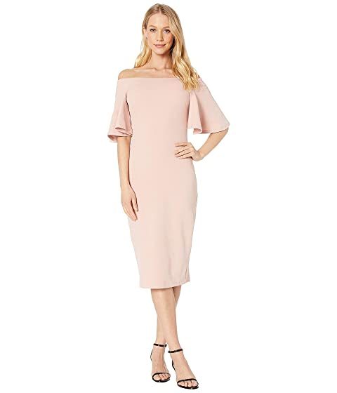f8cf83076a4a Bebe Off Shoulder Bell Sleeve Dress at 6pm