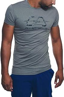 GYM AESTHETICS   Herren Wesentlich Dichte Maschen Tight-Fit T-Shirt UV-Schutz Antistatisch Slim Fit, Für Training und andere Sport