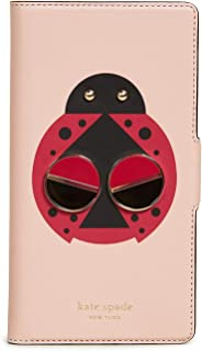 Kate Spade New York Lucky Ladybug Folio iPhone Case, Flapper Pink, iPhone XR