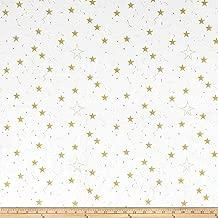 Michael Miller Minky Sarah Jane Magic Lucky Stars Fabric by The Yard, White
