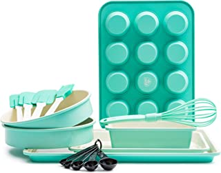 GreenLife Bakeware Ceramic Baking Set, 12pc, Turquoise