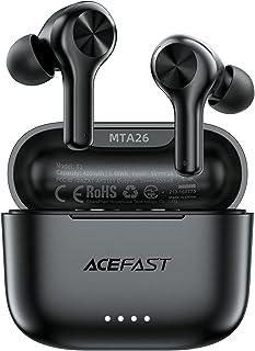 ACEFAST Auriculares Inalámbricos Bluetooth 5.0 ENC Cancelación de Ruido, Auriculares Deportivos Internos In-Ear 4 Micrófon...