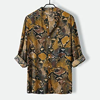 YSY-CY Camisa chemise para hombre, camisa de manga larga con estampado de lunares a rayas, camisa informal a la moda, blusa, ropa de calle, Tops, camisas para hombre Suitable for outdoor travel/dail