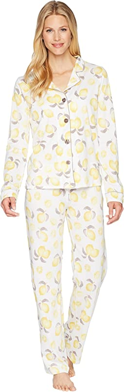 P.J. Salvage Playful Prints Lemon PJ Set
