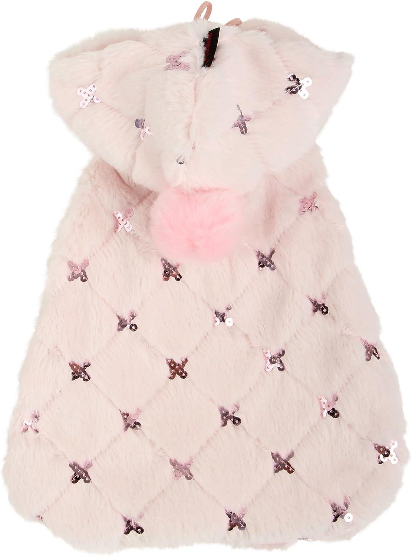 Puppia Doris Hooded Dog Cape, Small, Pink