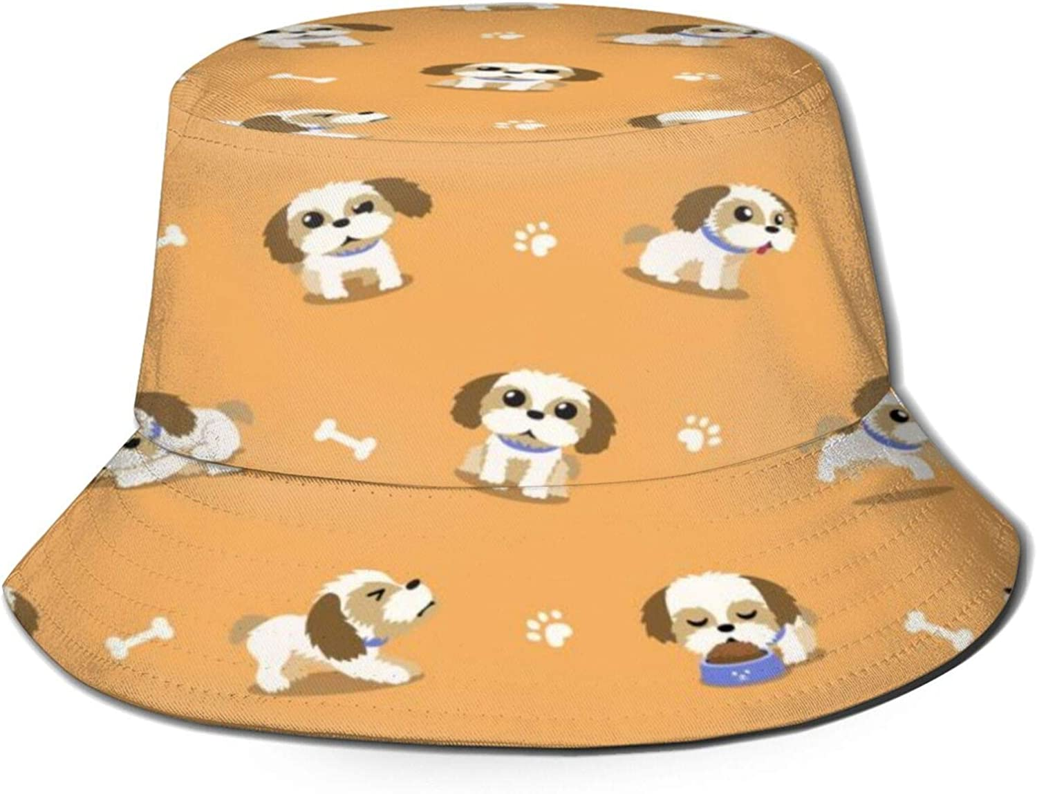 Shih Tzu free Puppies Bucket Outlet ☆ Free Shipping Hat Sun Summer Unisex Packable Fishe