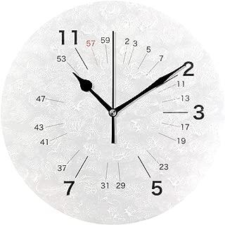 MIKA素数しか必要とし い人 掛け時計 壁掛け時計25cm 連続秒針 おしゃれ 静音 北欧 シンプル カフェ 寝室 部屋 学校 家 クォーツ プレゼント
