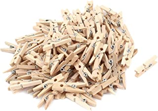 100 Mini Holzklammern Wäscheklammer 25mm bunt oder natur VBS Großhandelspackung