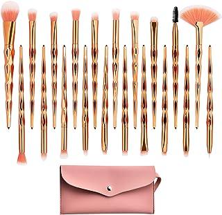 Eye Shadow Makeup Brush Set,20pcs Crystal Shiny Diamond Eye Makuep Brushes,Unicorn Eyeshadow Eyeliner Blending Crease Glit...