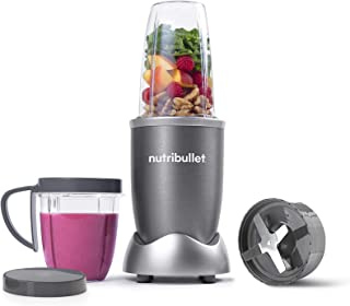 Nutribullet 600 Watts, 8 Piece Set, Multi-Function High Speed Blender, Mixer System with Nutrient Extractor, Smoothie Maker, Gray, 2 Years Warranty