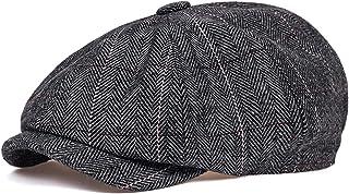 PPLAS Unisexe Automne Hiver Casquettes Hommes et Femmes Chapeaux d'octogonal Tweed Chaud for Chapeaux de détective mâle Ch...