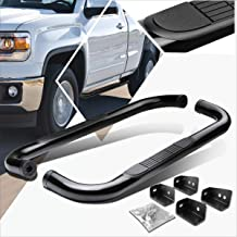 3 Inches Black Running Board Side Step Nerf Bar Compatible with Chevy Silverado/GMC Sierra Regular Cab 99-16
