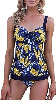Irevial Tankinis Traje de baño Mujer Dos Piezas Conjunto de Bañador Push up Verano Swimsuit para el Mar, Playa, Piscina, F...