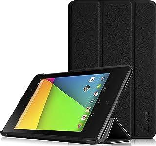 Fintie Google Nexus 7 (2013) レザー ケース カバー 超薄型 最軽量 スタンド機能 オートスリープ機能 (Nexus 7 (2013), ブラック)