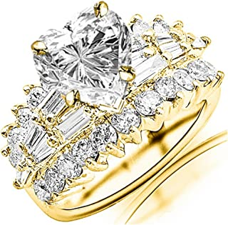 Best 14k yellow gold diamond heart ring Reviews