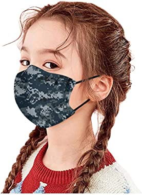 Youdw 1PC Children's Cute Cartoon Thin Type Face Bandanas, Wshable Reusable Ear Loop Cloth for Outdoor Cycling Sport, Hiking