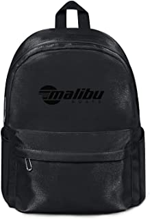 Decorate Nylon Backpack for Men's/Women's Malibu-Boats-decals-north-black Durable Student Rucksack