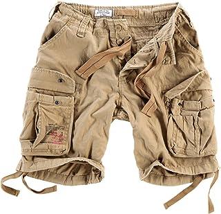 Hombres Airborne Vintage Pantalones Cortos Lavado Oliva
