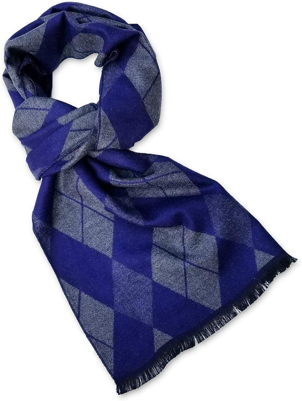StrayKat Men's Silk Viscose Soft Reversible Scarf, Designer Gift Box, O/S