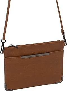 Tan Front Pocket Peta Crossbody Bag