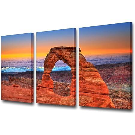 Metal HD aluminum prints for wall decor /& interior design Metal Prints Mesa arch Triptych 3 Panel split Canyonlands Park Wall Art