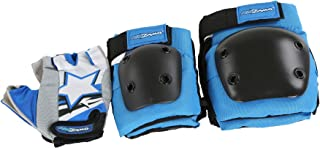 Kidzamo Kids Bike Protective Elbow/Knee Pad & Glove Set in Blue