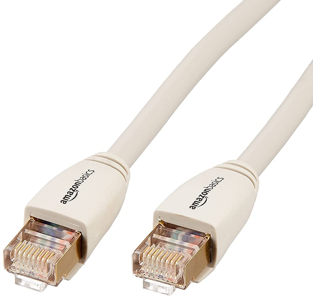 AmazonBasics RJ45 Cat7 Network Ethernet Patch Internet Cable - 3 Feet