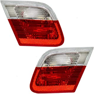 Driver and Passenger Back-Up Backup Lights Lid Mounted Lamps Replacement for BMW 63218364727 63218364728 AutoAndArt