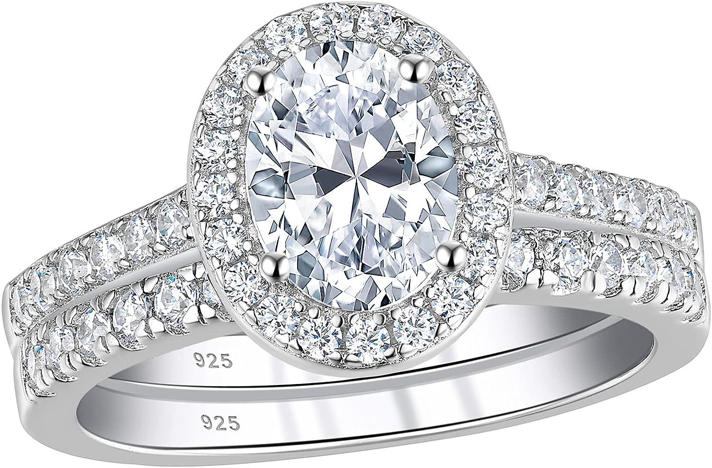 Wuziwen 2Ct Vintage Engagement Wedding Ring CZ Trust Women 925 for Discount mail order Set